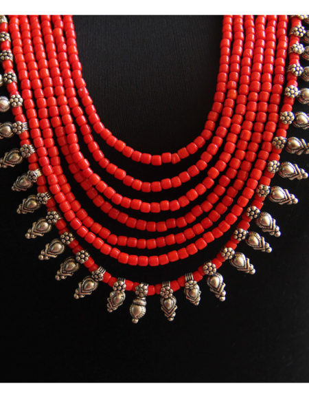 "red multi layer 26"" mala"