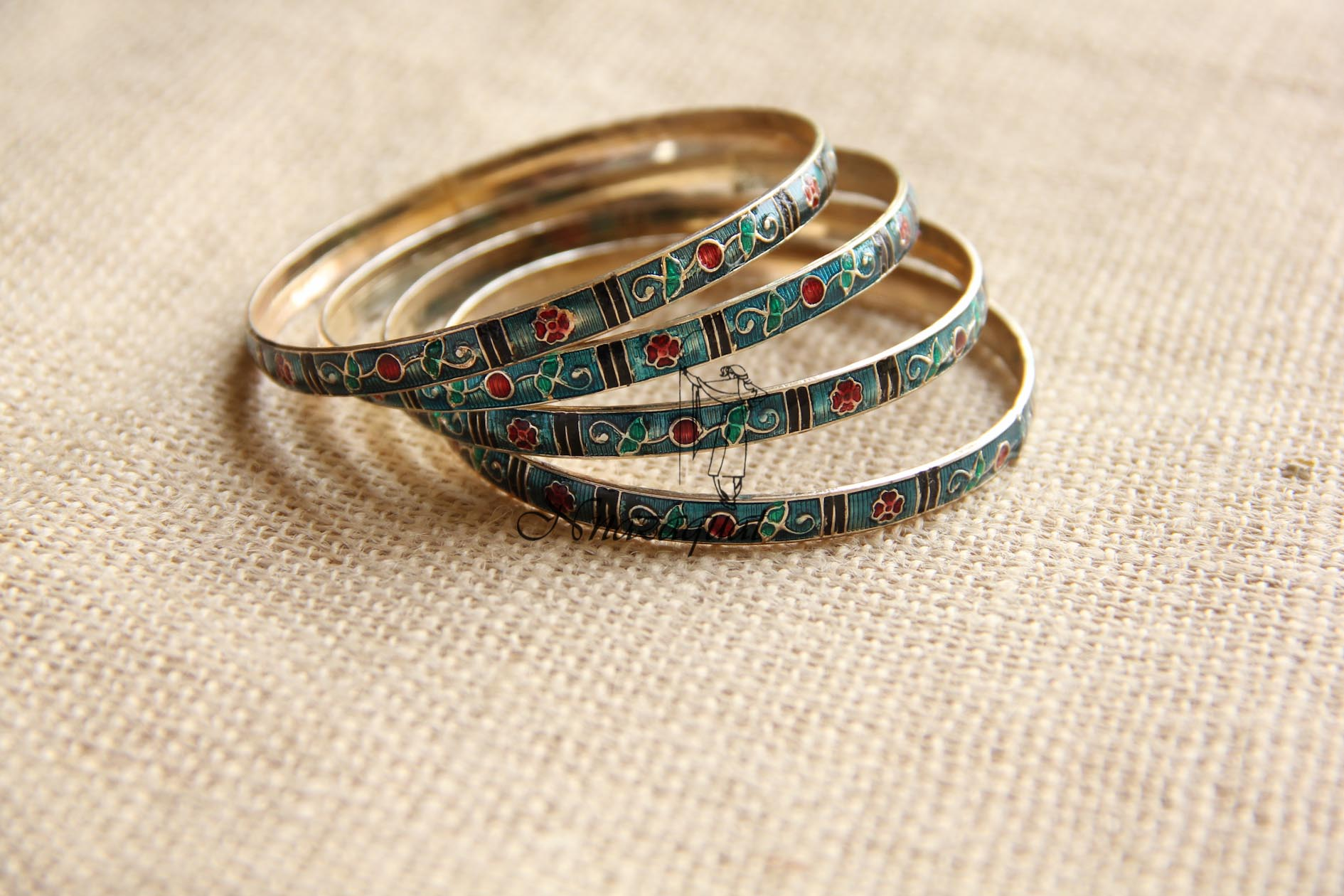 soneri new bangles jewelry gold portfolio traditional enamel gems